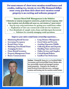 Making Money on Your Vacation Home Rental - Back Cover of Book